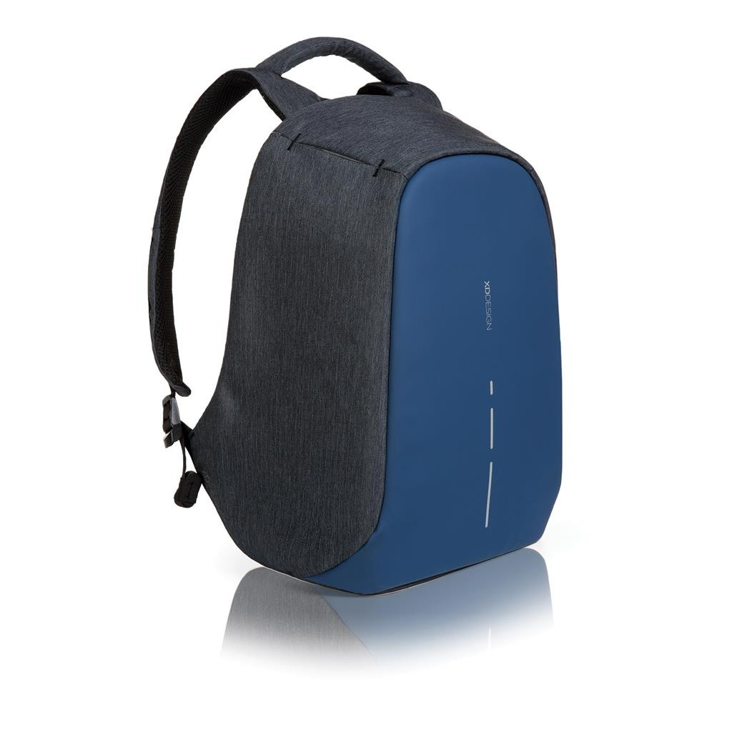 Bobby compact anti-theft backpack, blue