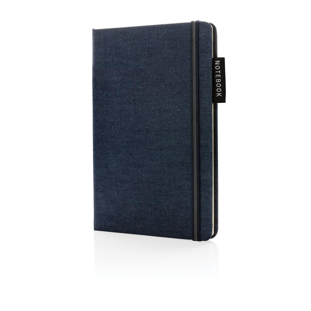 Deluxe A5 denim notebook, navy