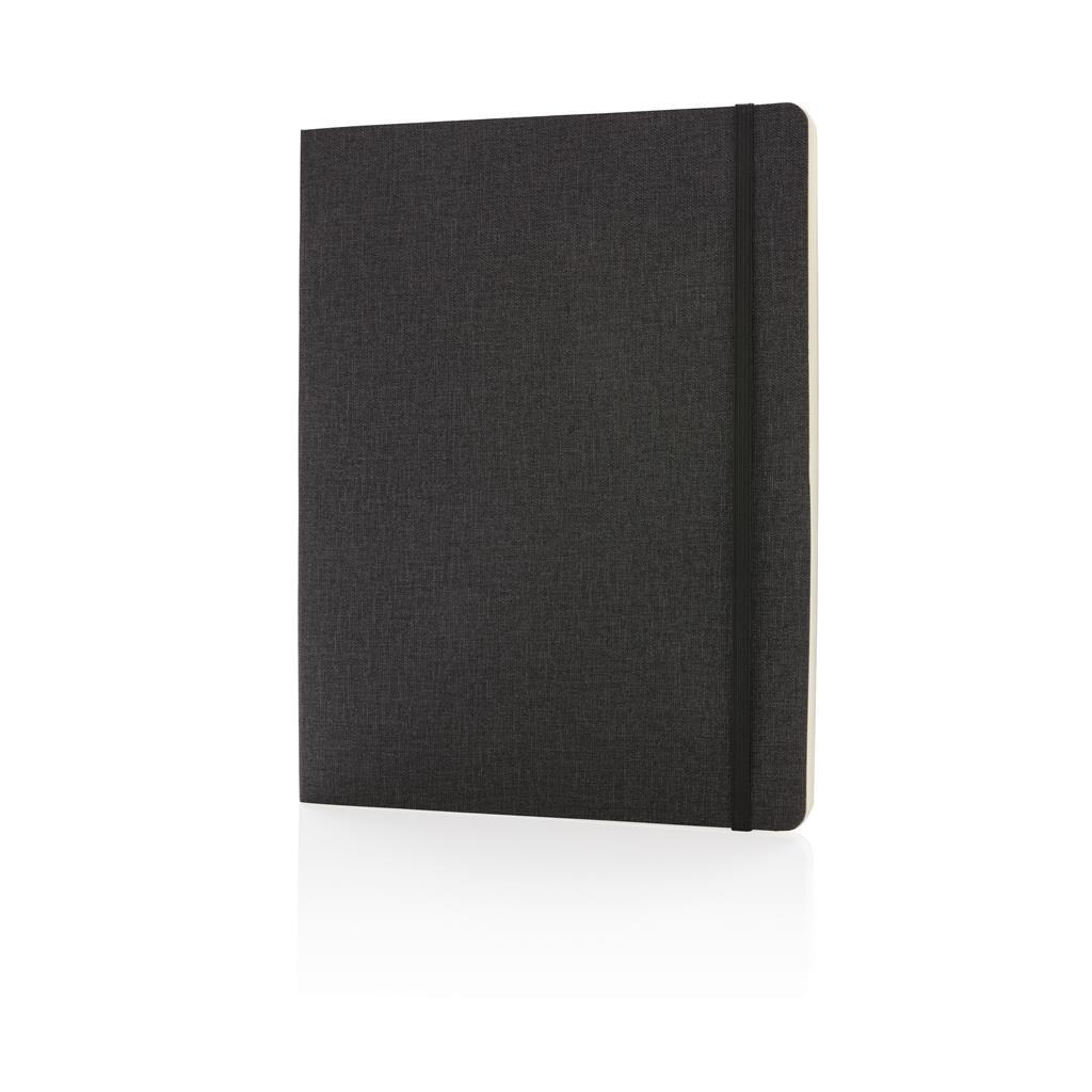 Deluxe B5 notebook softcover XL, black