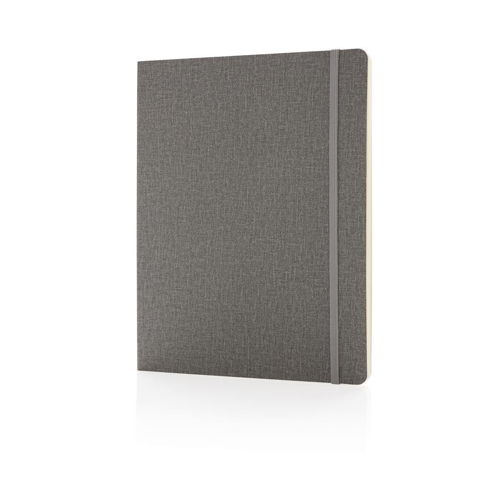 Deluxe B5 notebook softcover XL, grey
