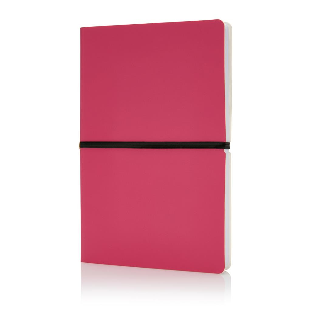 Deluxe softcover A5 notebook, pink