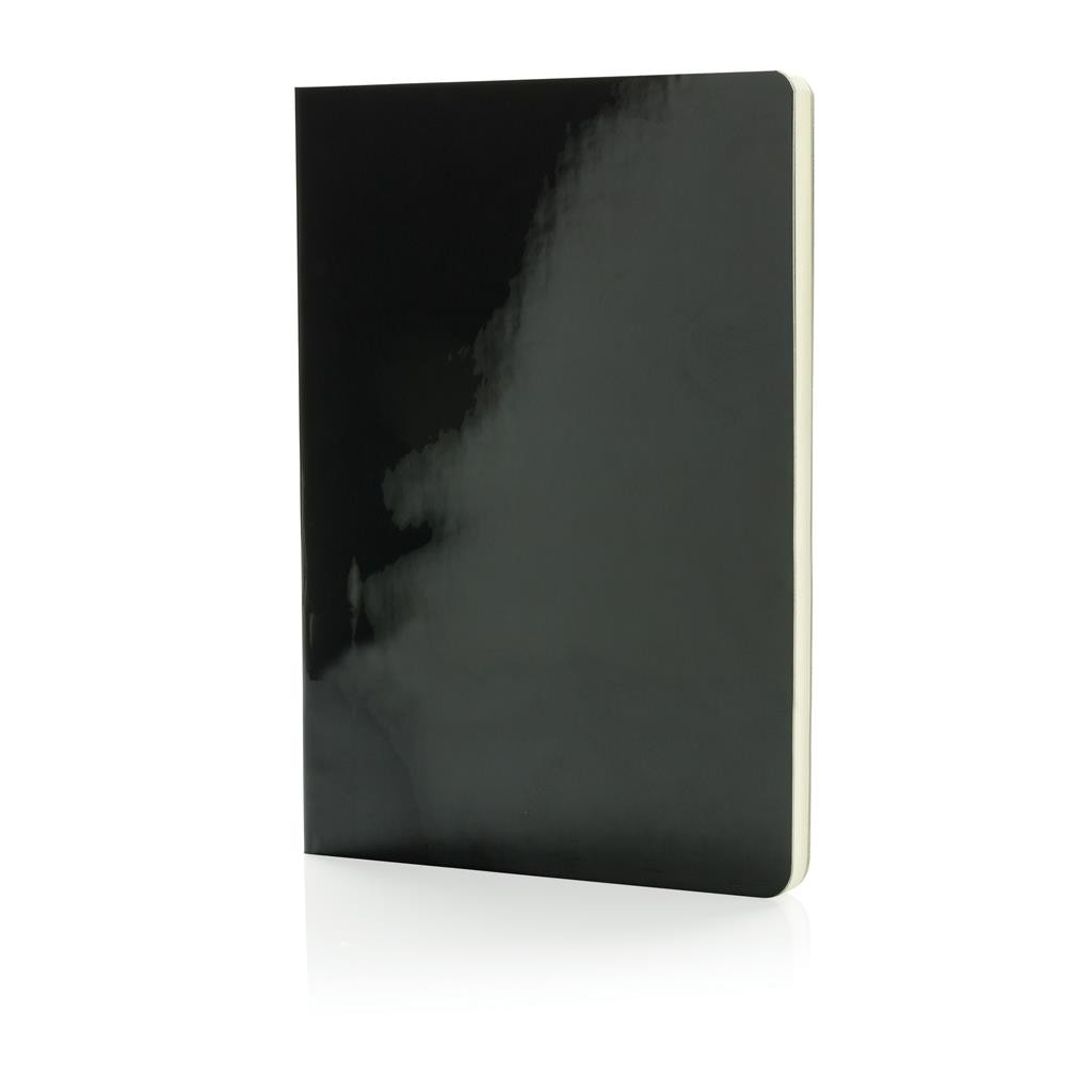A5 Deluxe metallic notebook, black