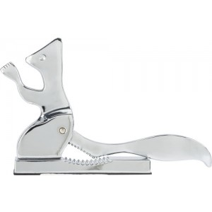 Aluminium alloy nut cracker in shape of a squirrel