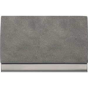 Horizontal, curved business card holder
