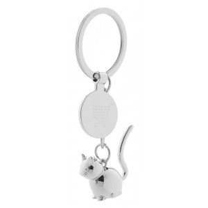 trolley coin keyring, cat