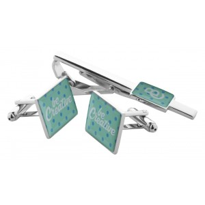 cufflink and tie clip set