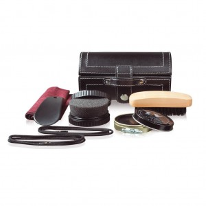 Essential shoe maintenance set, black