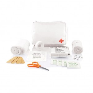 Mail size first aid kit, white