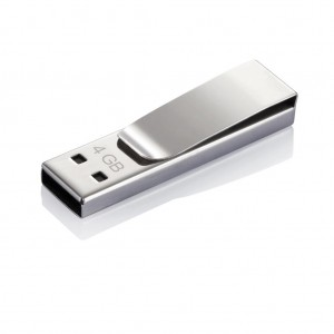 Tag USB stick - 4 GB, silver