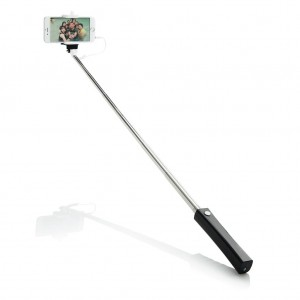Selfie stick with wire, black/white
