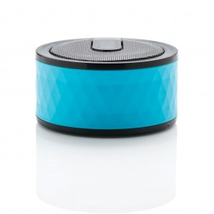 Geometric wireless speaker, blue