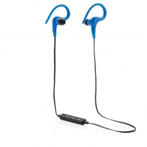 Wireless work out earbuds, blue