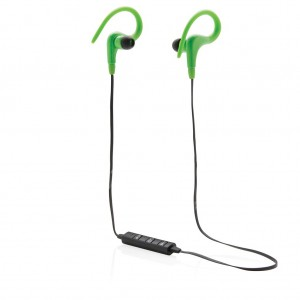 Wireless work out earbuds, green