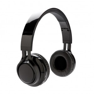 Wireless light up logo headphone, black