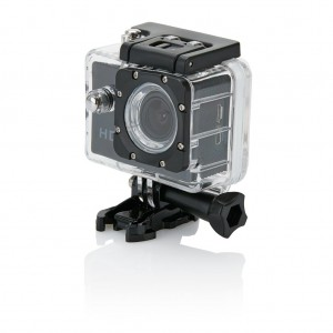 Action camera inc 11 accessories, black