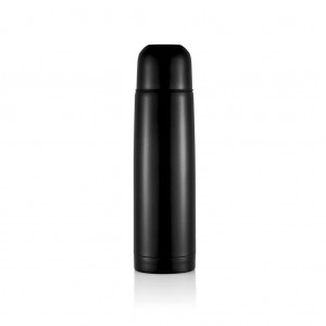 Stainless steel flask, black