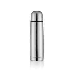 Stainless steel flask, silver