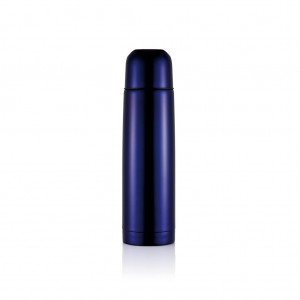 Stainless steel flask, purple blue