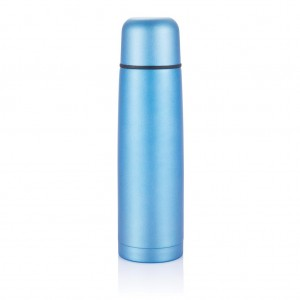 Stainless steel flask, blue