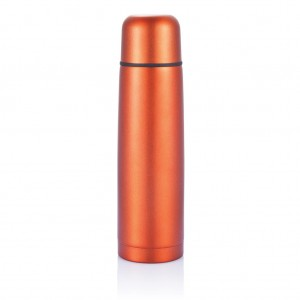 Stainless steel flask, orange
