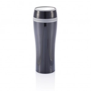 Double wall push mug, black