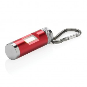 COB light with carabiner, red