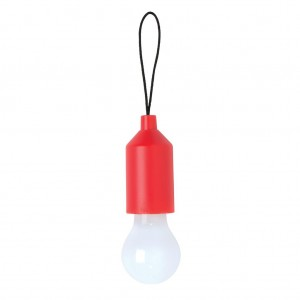 Pull lamp keychain, red