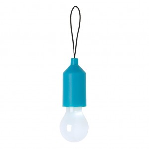 Pull lamp keychain, blue