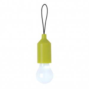 Pull lamp keychain, green