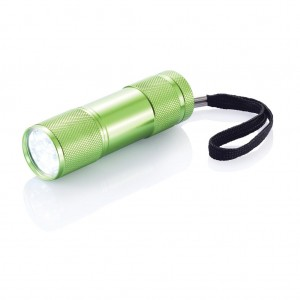 Quattro aluminium torch, green