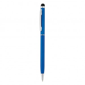 Thin metal stylus pen, blue