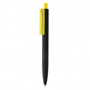 X3 pen, black smooth touch, yellow