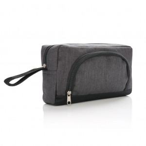 Classic two tone toiletry bag, dark grey