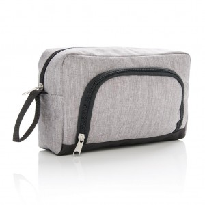 Classic two tone toiletry bag, light grey