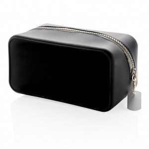 Silicon toiletry bag, black
