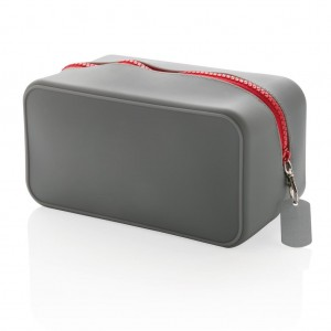 Silicon toiletry bag, grey