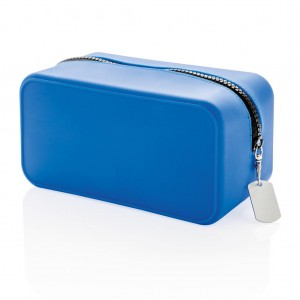 Silicon toiletry bag, blue