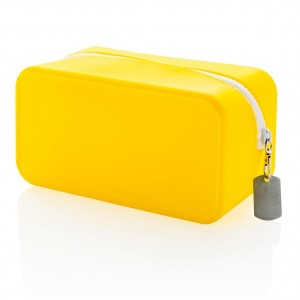 Silicon toiletry bag, yellow