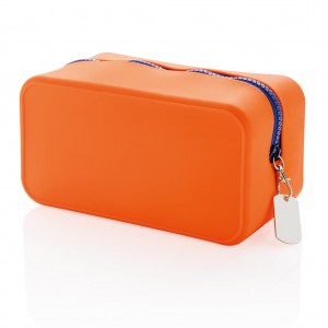 Silicon toiletry bag, orange