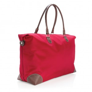 Travel weekend bag, red