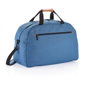 Fashion duo tone travel bag, blue