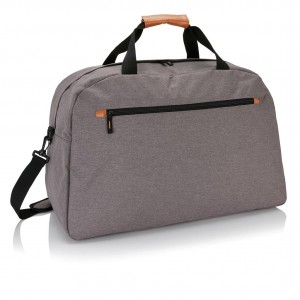 Fashion duo tone travel bag, grey