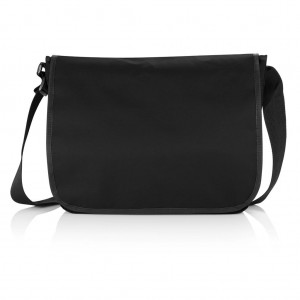 Shoulder document bag, black