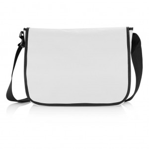 Shoulder document bag, grey