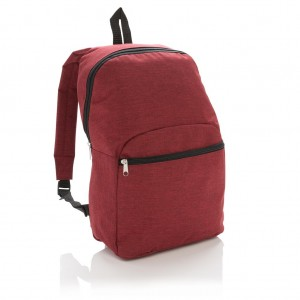 Classic two tone backpack, red