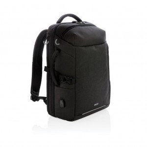 Swiss Peak XXL weekend travel backpack with RFID and USB, bl