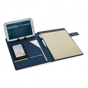 Tech portfolio, blue/black