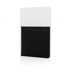 A5 Deluxe notebook with smart pockets, white