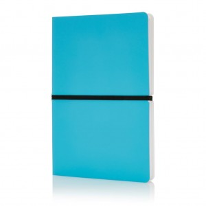 Deluxe softcover A5 notebook, blue