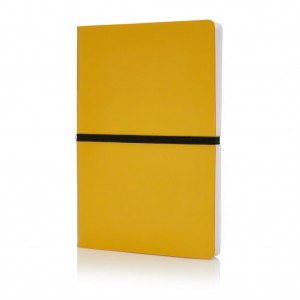 Deluxe softcover A5 notebook, yellow